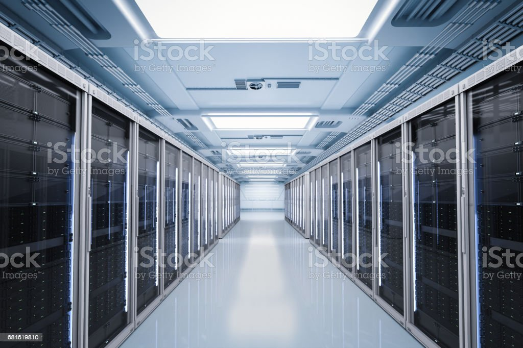 server room or server computers stock photo