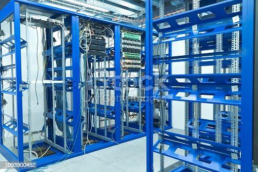server room with racks