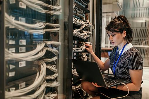 Server Room Stock Photo - Download Image Now