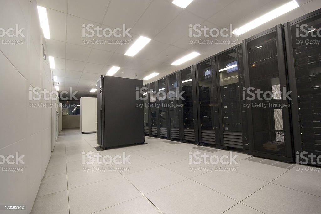 IBM Server Room stock photo