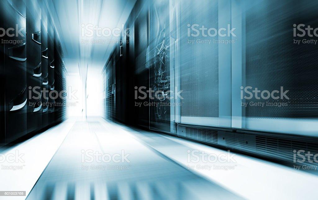 server room with modern equipment in data center stock photo