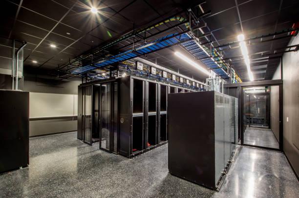 Server Room with Racks stock photo