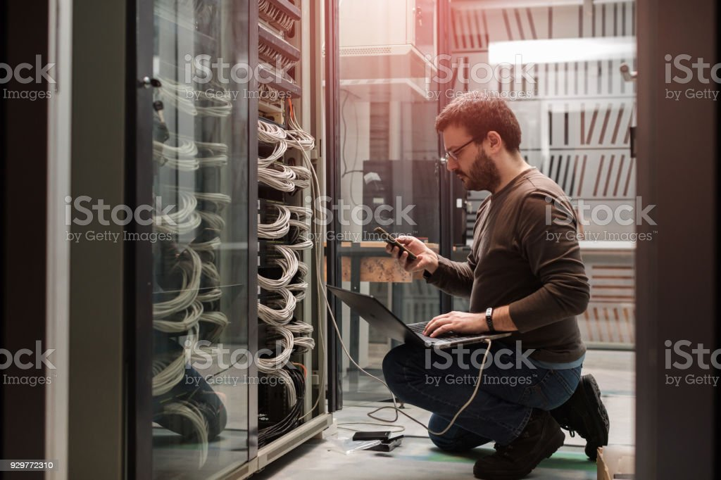 server rooms stock photo