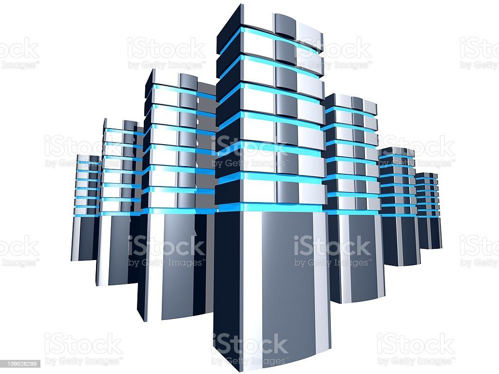 server towers in group royalty-free stock photo
