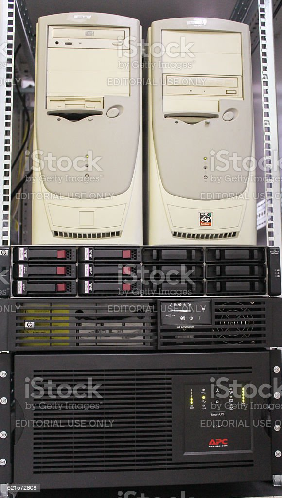 Server with two computers. photo libre de droits