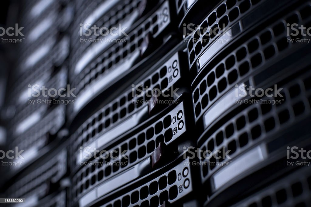 Servers in a Datacenter royalty-free stock photo