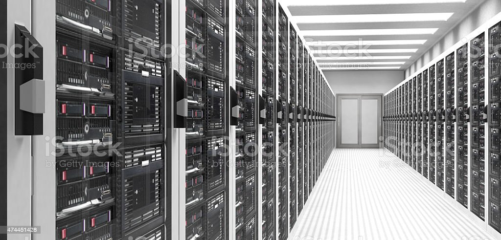 Servers in Data Center stock photo
