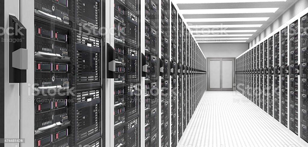 Servers in Data Center stock photo