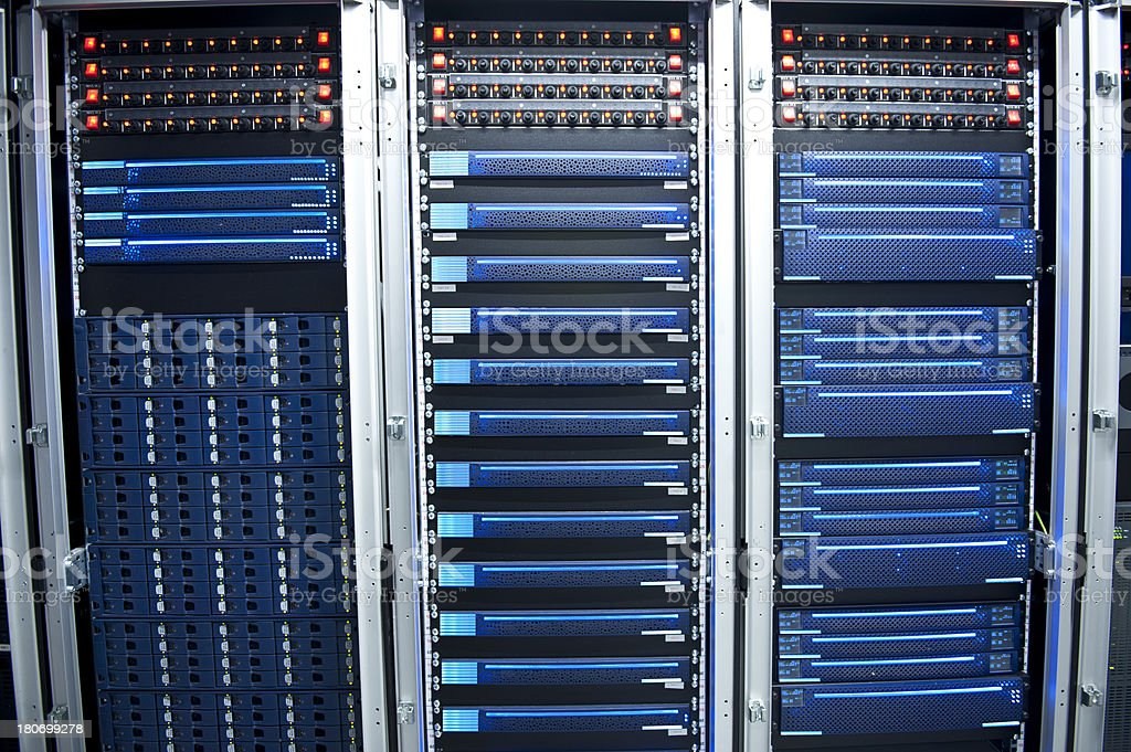 Servers in the data center royalty-free stock photo