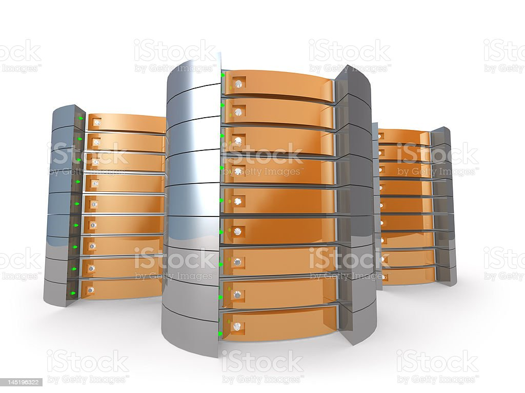 3D Servers royalty-free stock photo