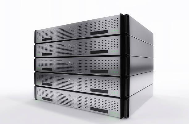 Servers Rack stock photo