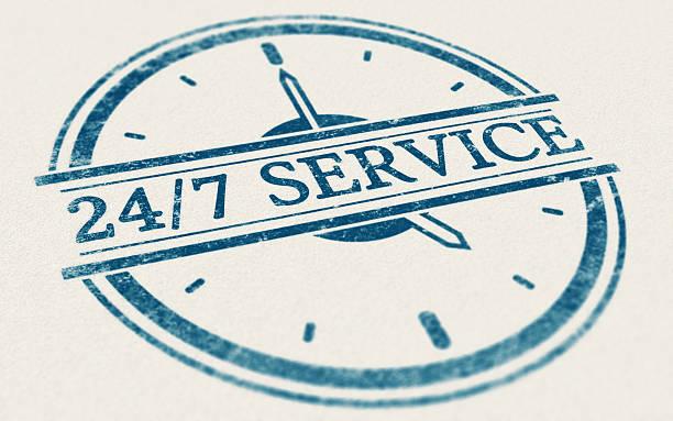 Service always open, 24 hours and 7 days a week - foto de acervo