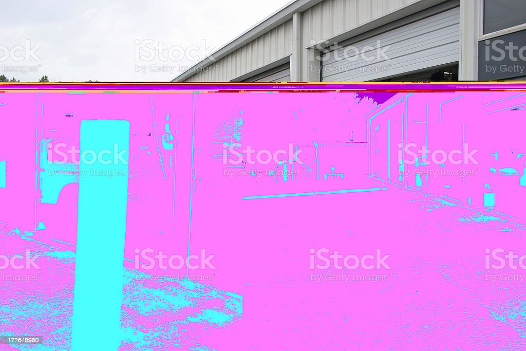 Service Bays stock photo