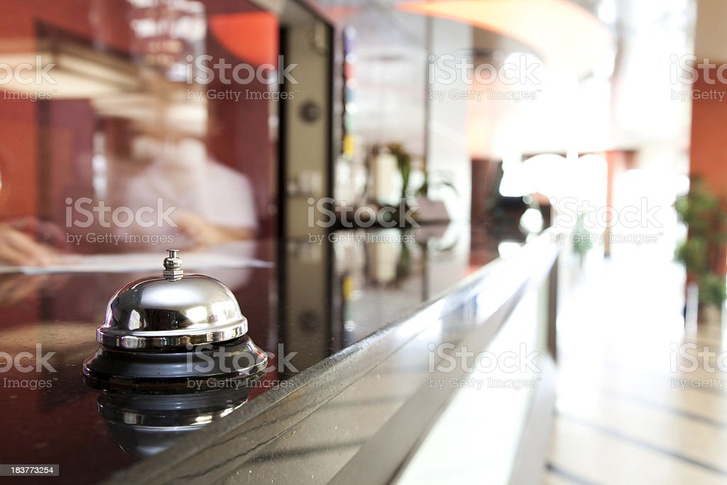 Service bell at an hotel reception royalty-free stock photo