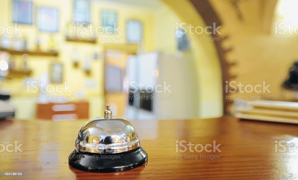 service bell at the hotel royalty-free stock photo