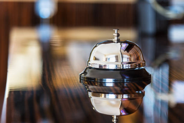 service bell in a hotel or other premises - foto de stock