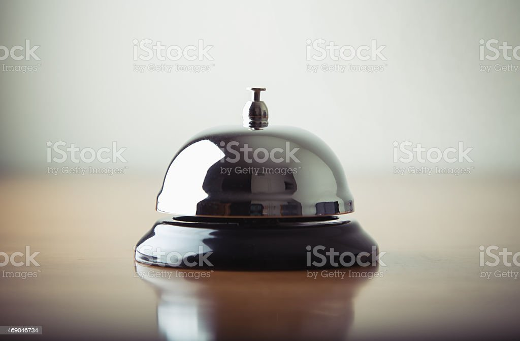Service bell in a hotel stock photo