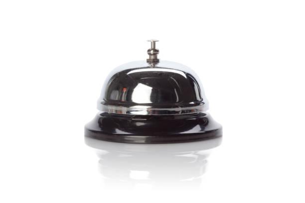 service bell isolated white background - hotel reception zdjęcia i obrazy z banku zdjęć