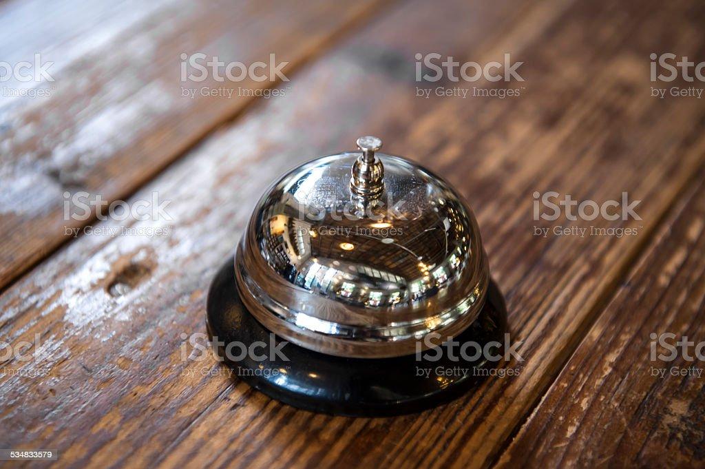 Service Bell on Desk stock photo