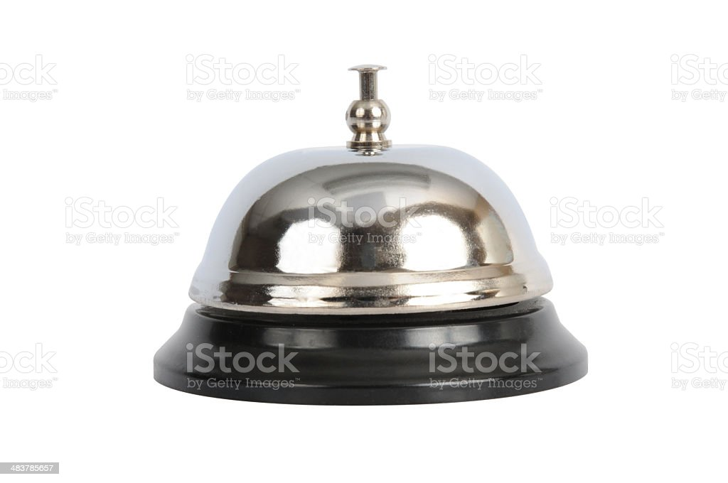 Service Bell (path included) royalty-free stock photo