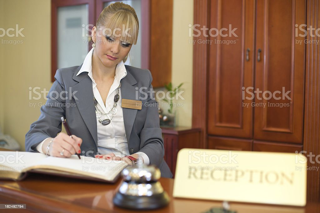 Service Business Woman royalty-free stock photo