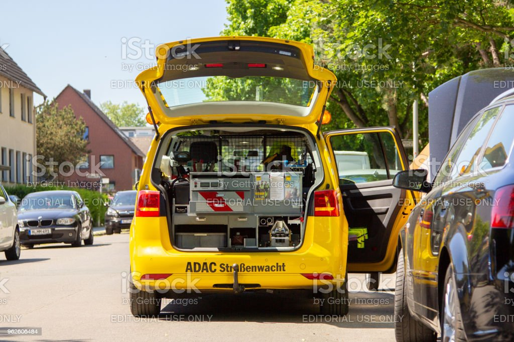 Service Car From ADAC German Automobile Club Stands On A Street Royalty Free