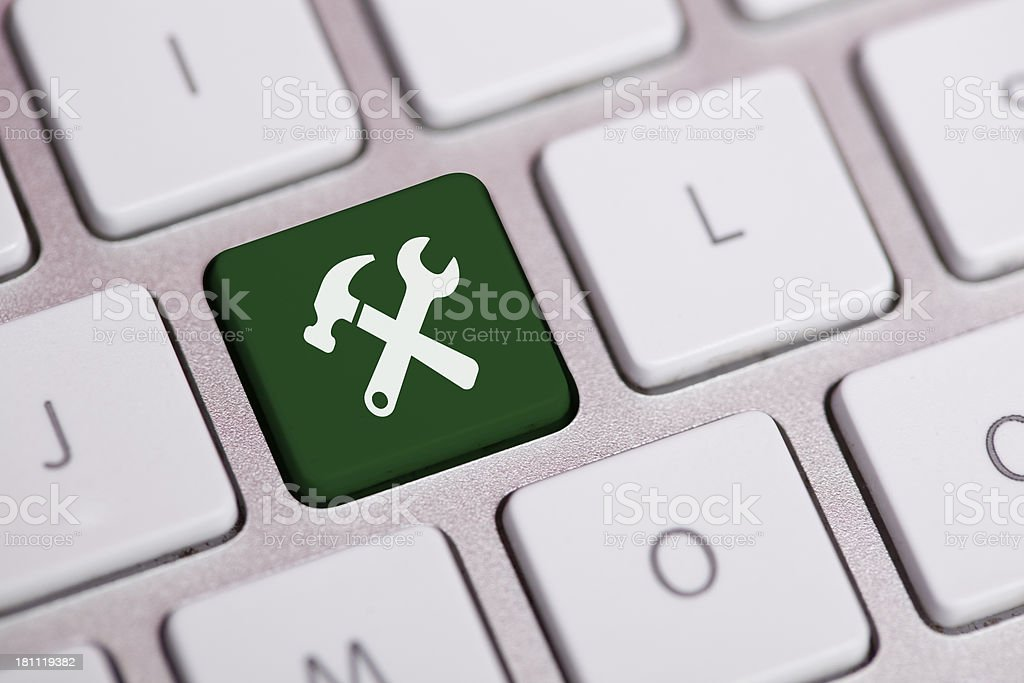 Service Concept on a keyboard royalty-free stock photo