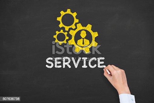 istock Service Concept on Chalkboard 507636738