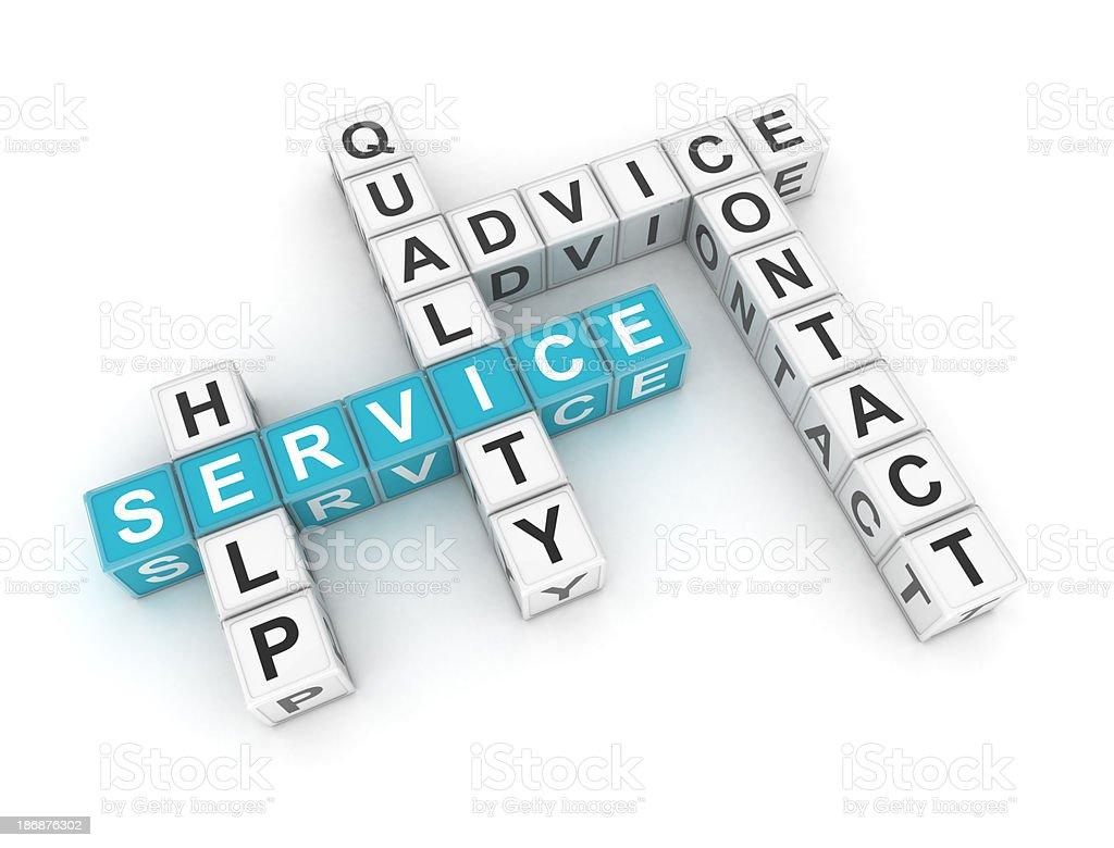 Service - crosswords royalty-free stock photo