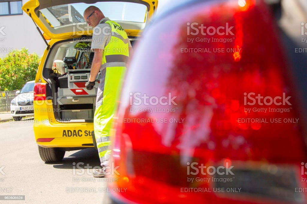 Hannover Germany May 21 2018 Service Man From Adac German Automobile