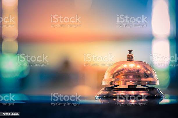 Restaurant service bell vintage with bokeh
