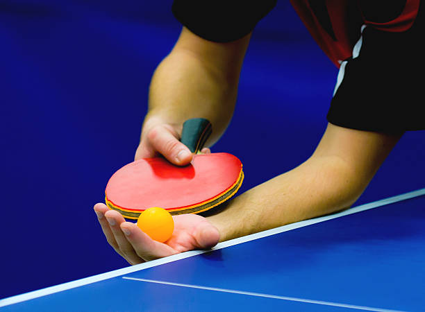 service on table tennis - racket sport stock pictures, royalty-free photos & images
