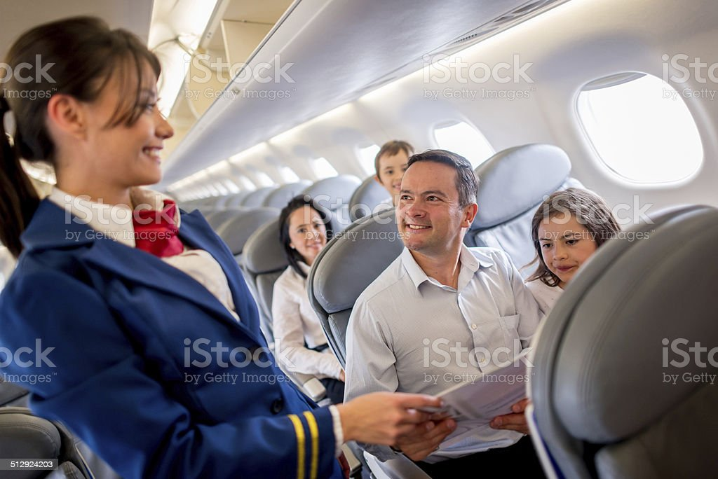 Service onboard stock photo