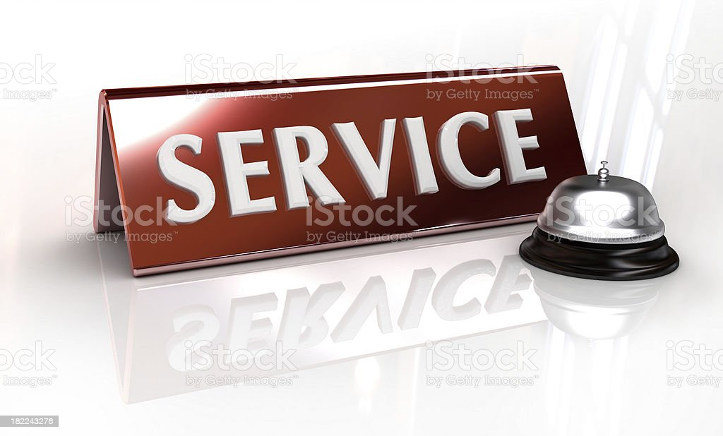 service or reception counter royalty-free stock photo