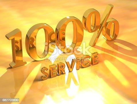 istock 100 % Service 682703830