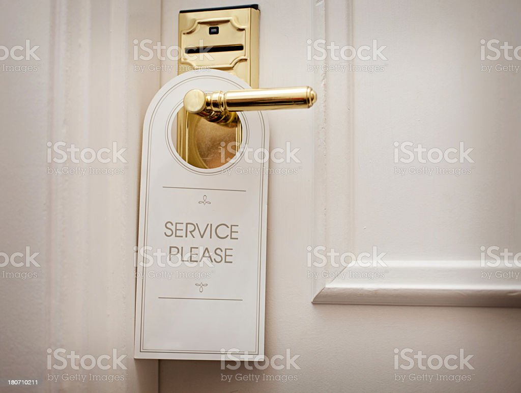 Service Please! stock photo