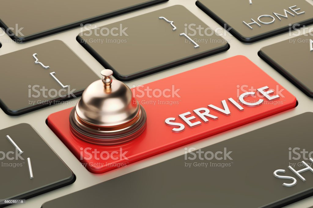 Service Reservation keyboard button, 3D rendering stock photo