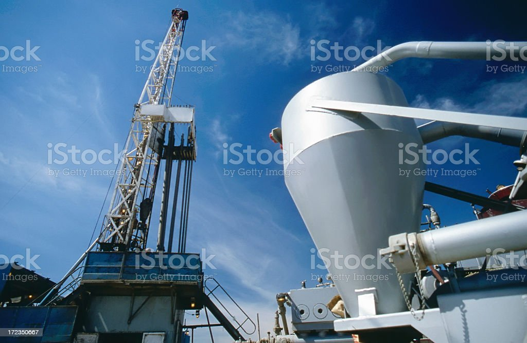 Service Rig royalty-free stock photo