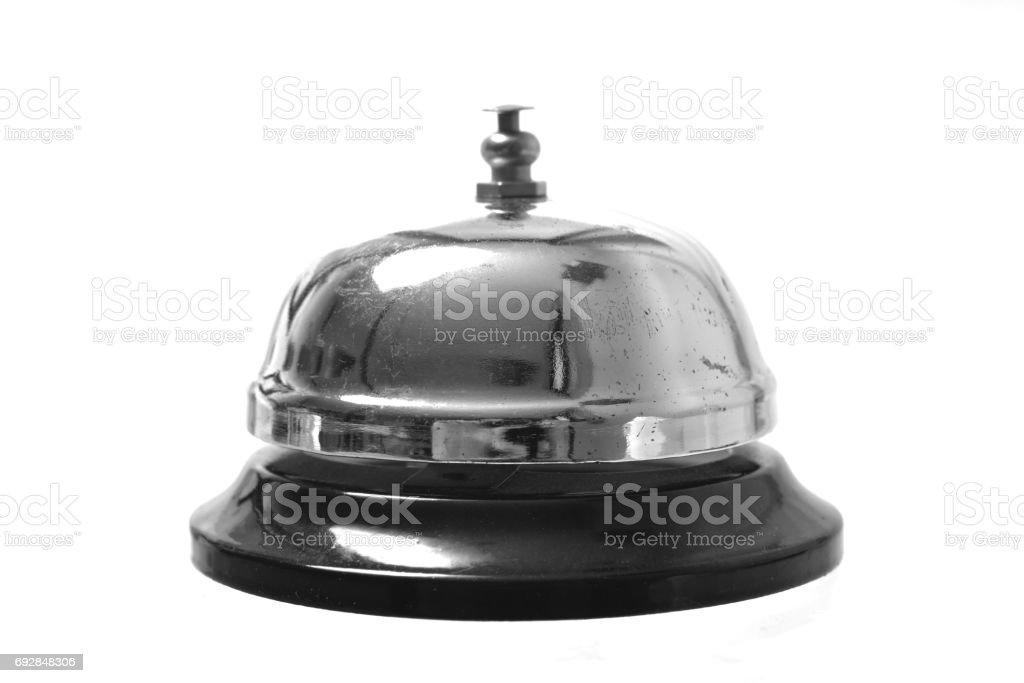Service ring on white stock photo