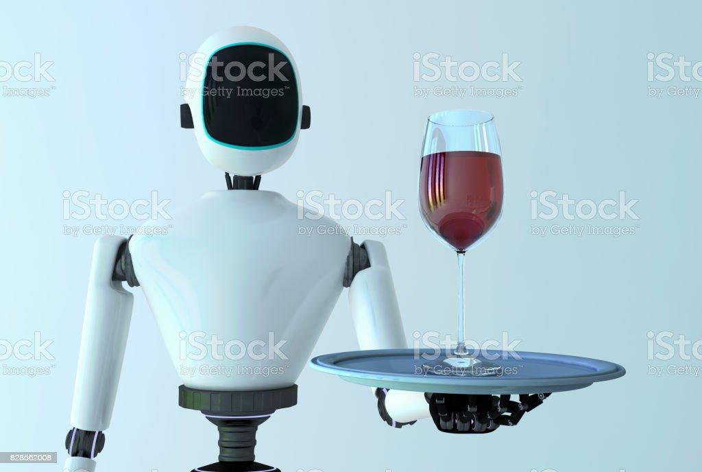 Service robot stock photo