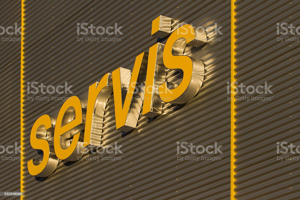 Service sign stock photo