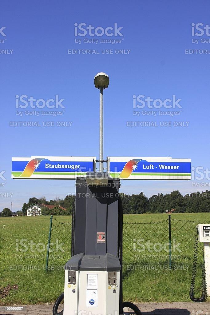 Service station stock photo