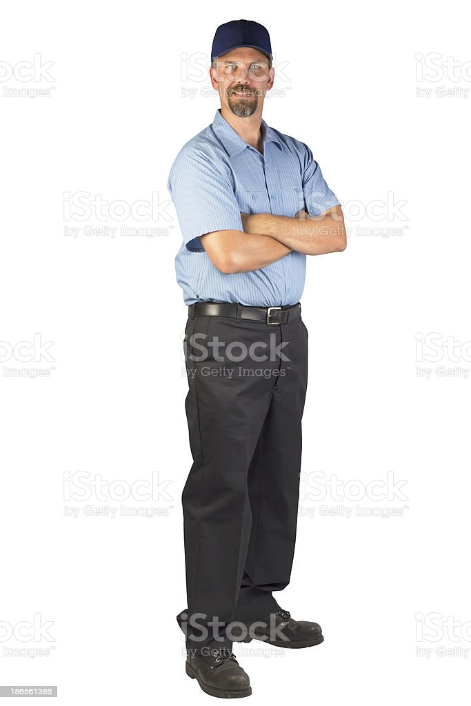 Service Technician Ready to be of Help royalty-free stock photo