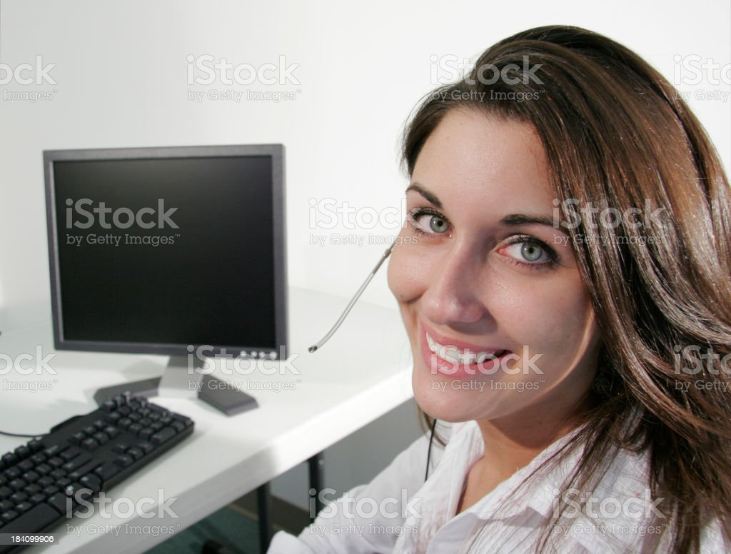 Service with a smile royalty-free stock photo