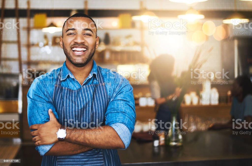 Service mit einem Lächeln – Foto