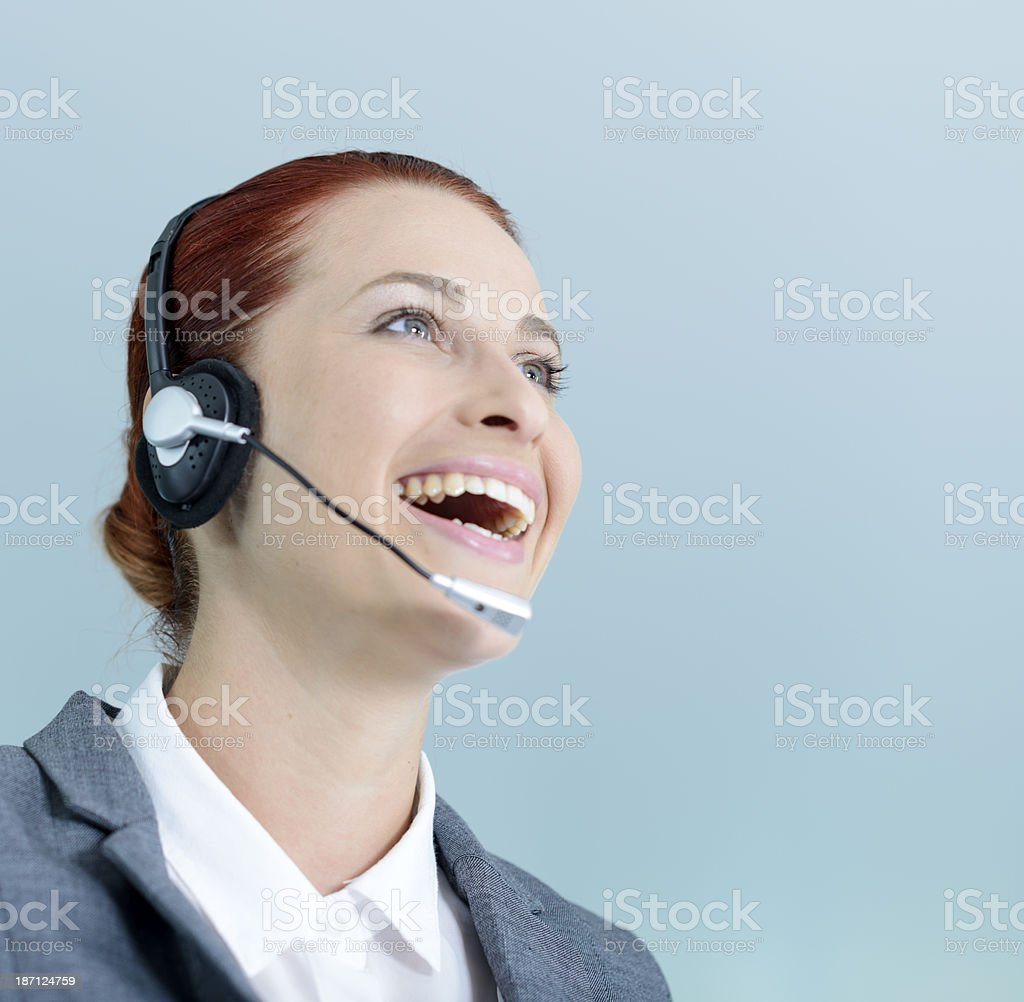 service with friendly smile royalty-free stock photo