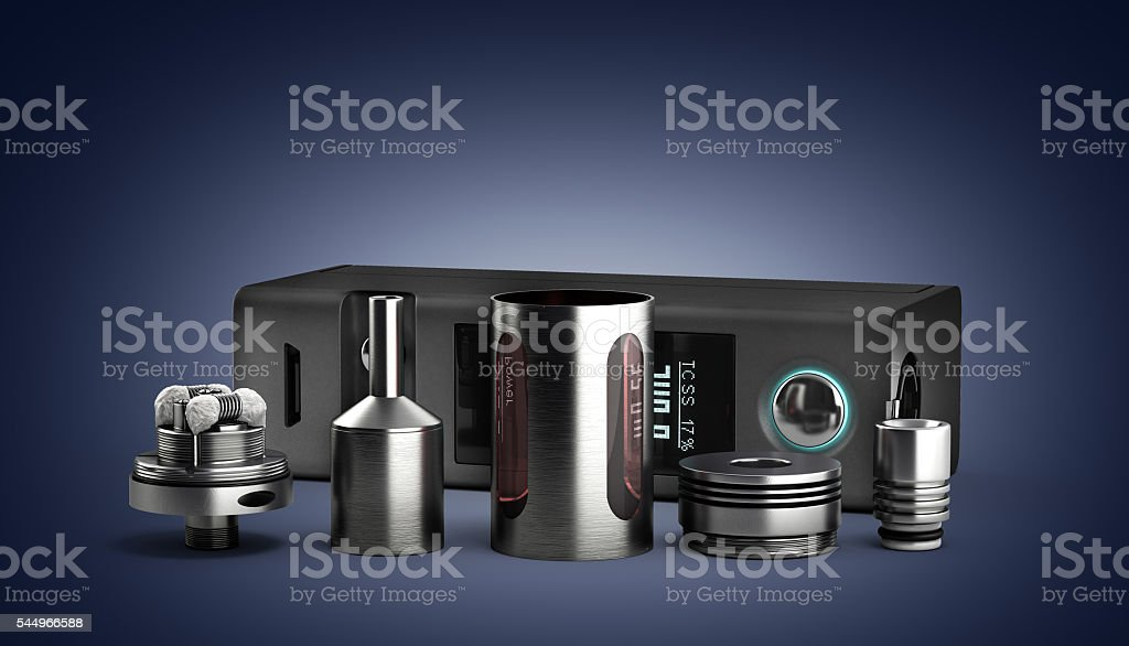 serviced atomizer in disassembled form for soaring electronic ci - foto de acervo