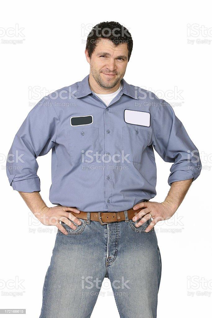 Serviceman royalty-free stock photo