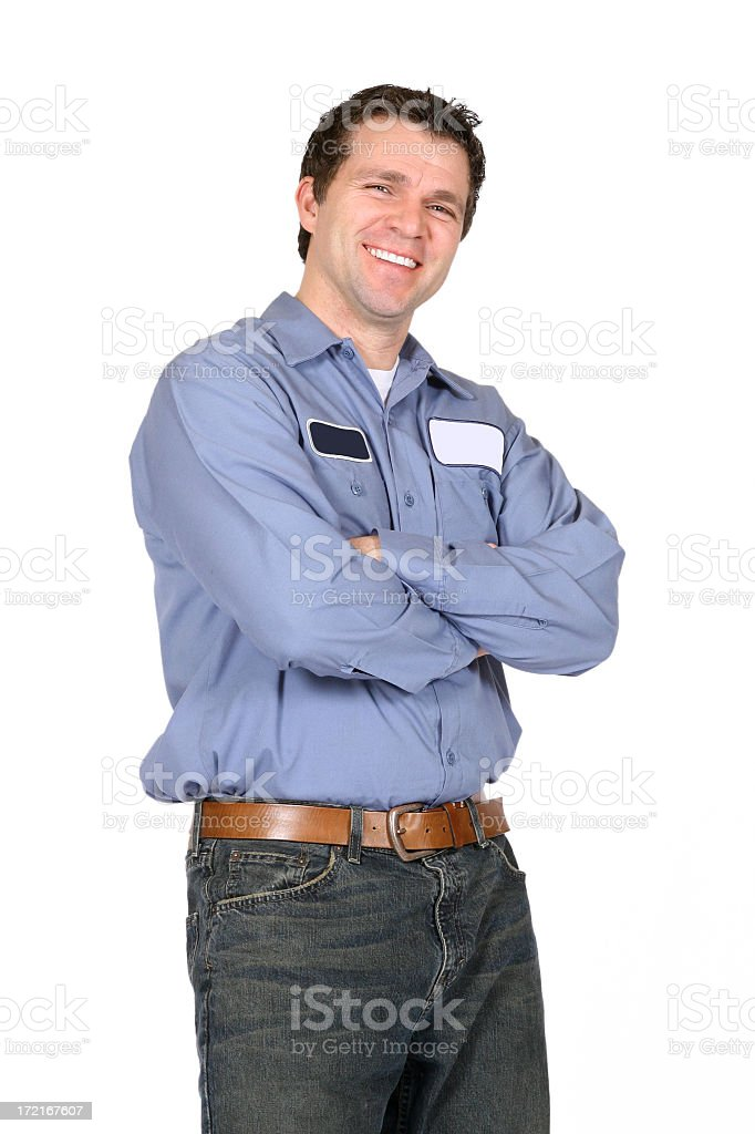 A serviceman smiling and posing stock photo