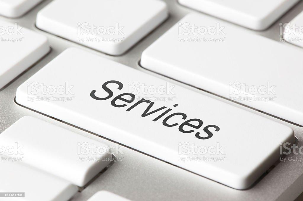 Services keyboard key royalty-free stock photo